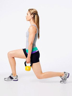 The 15-Minute Kettlebell Blasters Workout    Routine by trainer Paul Katami, group fitness manager at Equinox Fitness Clubs in West Hollywood  This may be exactly what I'm looking for.