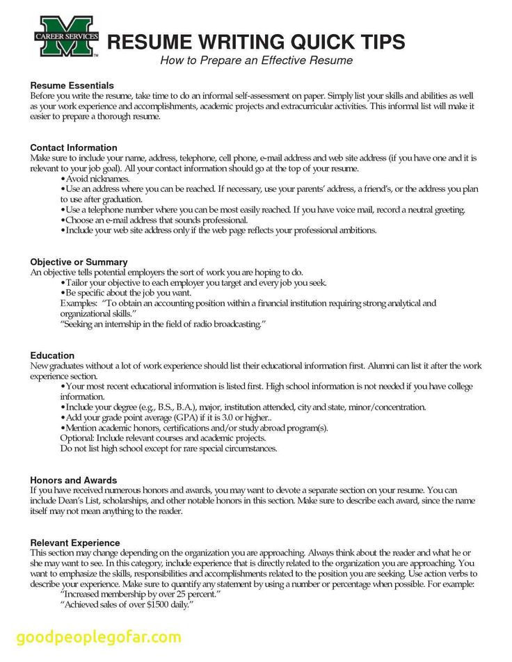 Elegant What to Put Under Achievements On A Resume