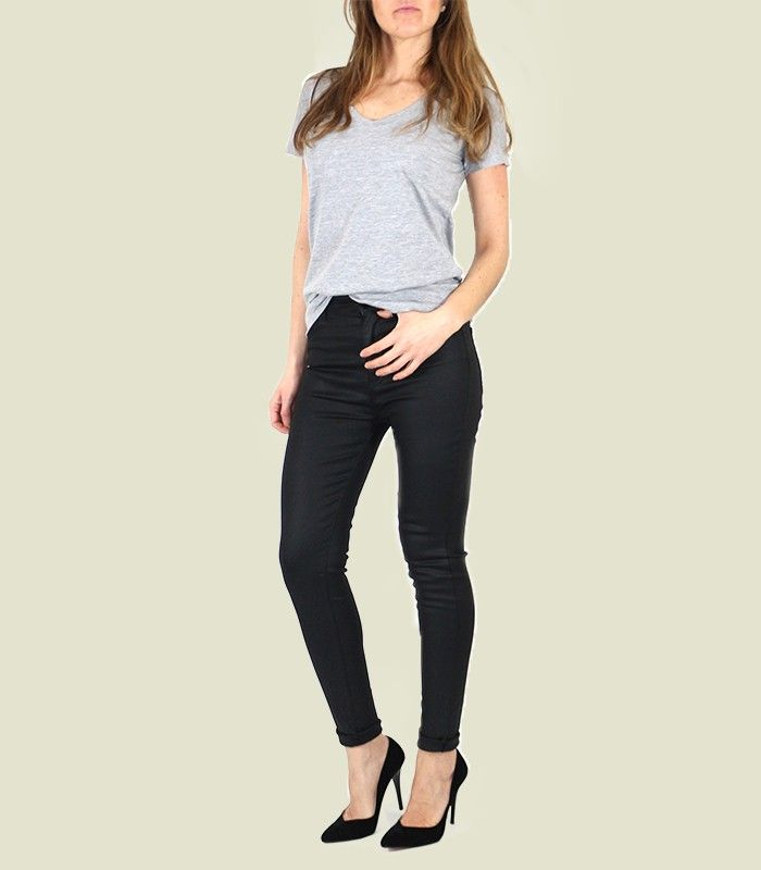 Rita kaplamalı siyahjean pantolon