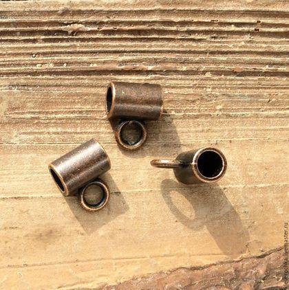 Для украшений ручной работы. Ярмарка Мастеров - ручная работа. Купить Бейлы 10 мм - 2 шт - цвет медь держатели для кулонов подвесок. Handmade.