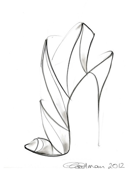 Contour Line Drawing App : Best images about shoe sketches on pinterest fashion