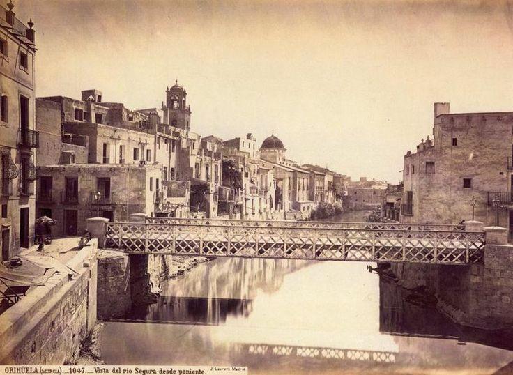 Oriola, vista del riu Segura des de ponent. 1870, Jean Laurent