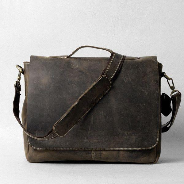 """Handmade Vintage Leather Briefcase / Leather Messenger Bag / 13"""" 15"""" MacBook 13"""" 14"""" 15"""" Laptop Bag D25"""