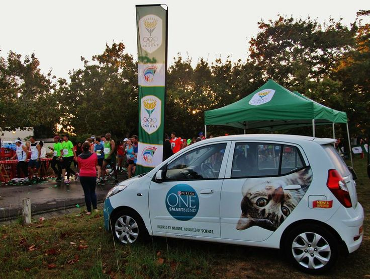 Purina One showing off at the 2 Oceans Marathon.