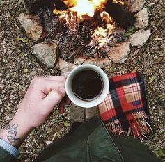 nature, coffee, fire, mountains, I just wanna live like this forever. <3