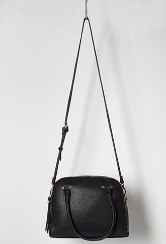 Double-Zip Faux Leather Satchel | Forever 21 - 1000183836
