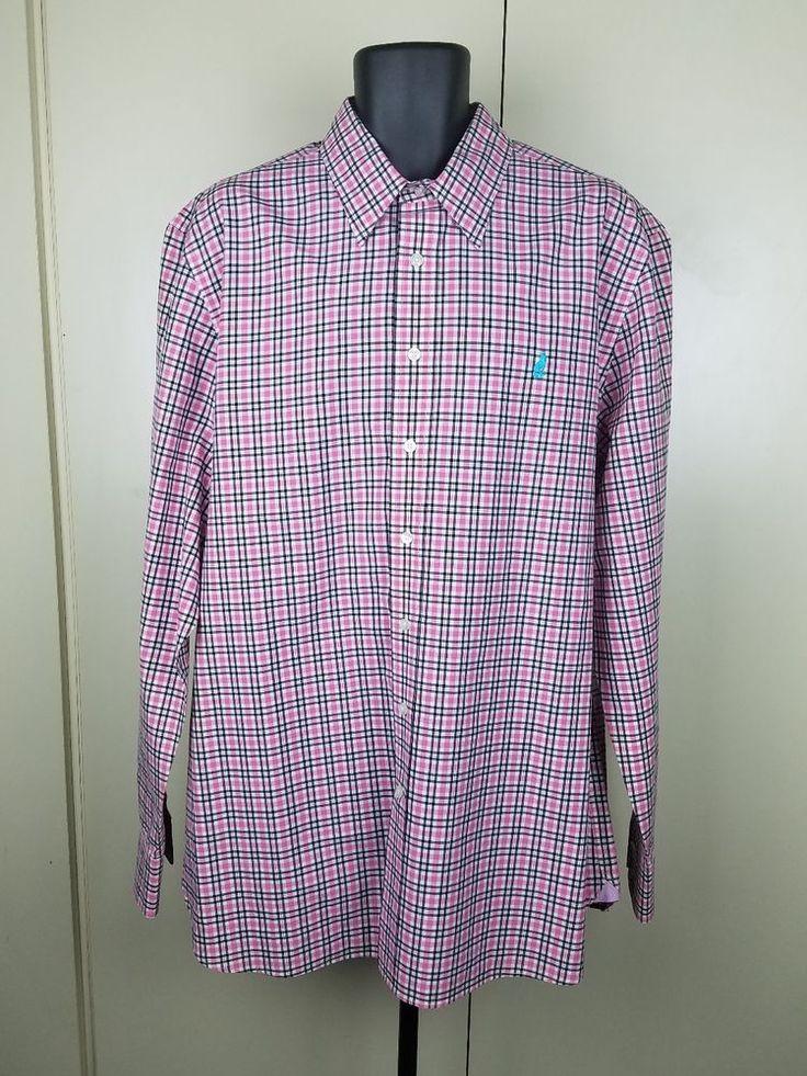Thomas Pink Dress Shirt Pink Black Checker XL 100% Cotton Dress Shirt  EUC   Clothing, Shoes & Accessories, Men's Clothing, Dress Shirts   eBay!