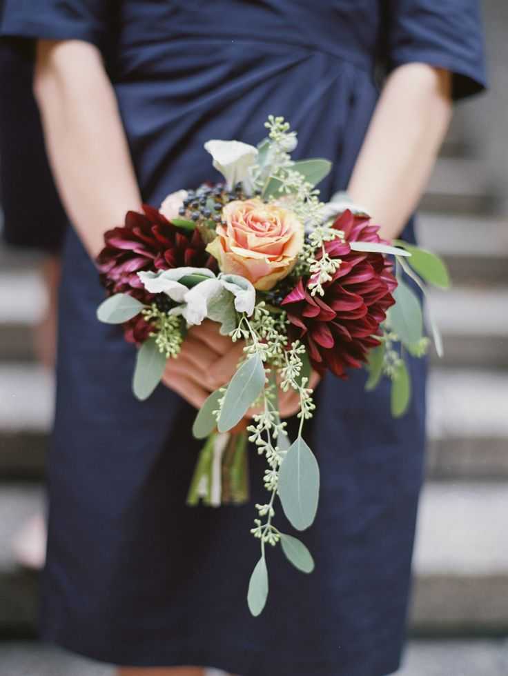 Fall wedding bouquet: http://www.stylemepretty.com/2014/10/01/autumn-backyard-virginia-wedding/ | Photography: Amelia Johnson - www.amelia-johnson.com