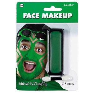 green face makeup - each
