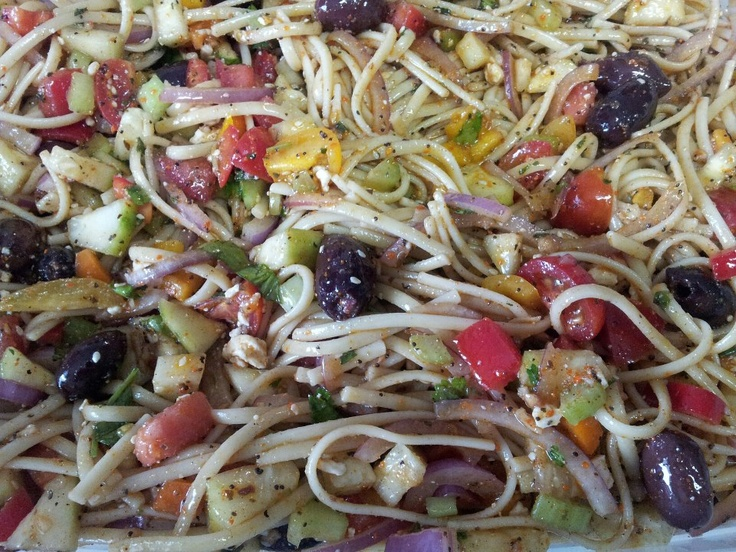 The Tempting Table: Cold Linguini Pasta Salad