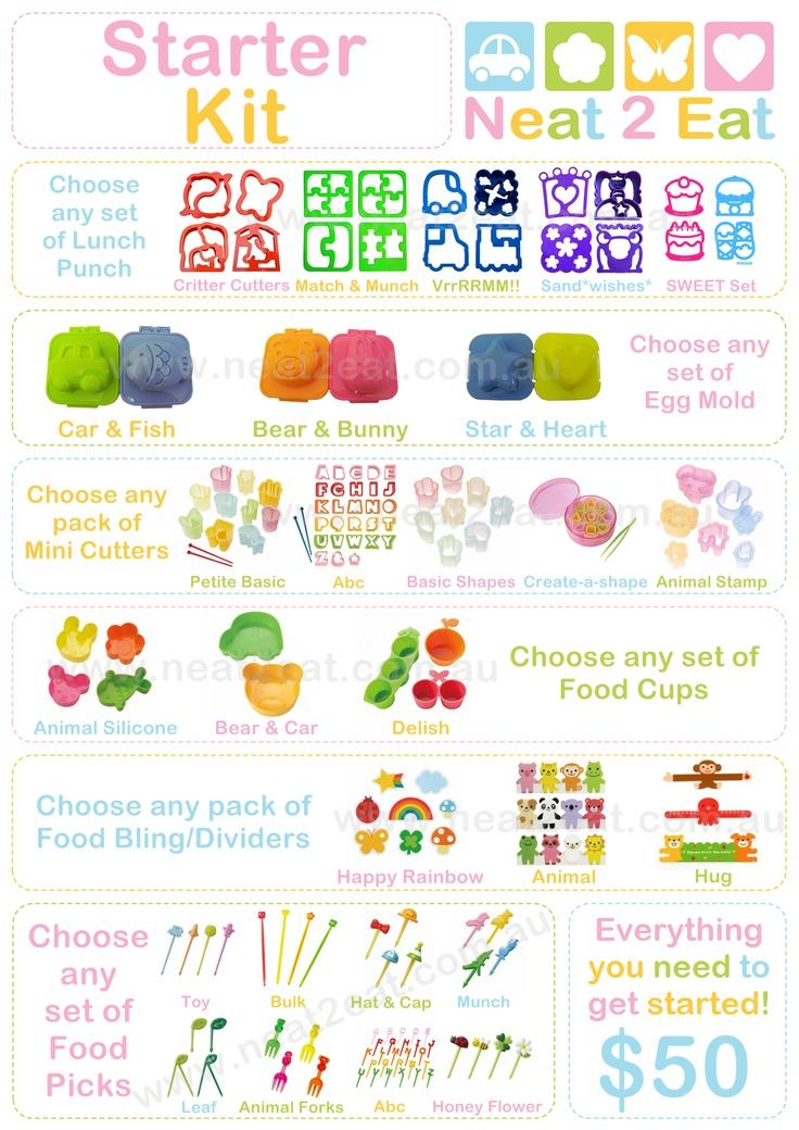 Neat 2 Eat Bento Starter Kit    http://www.neat2eat.com.au/blog/2012/06/04/starter-kits-pin-it-to-win-it-competition/