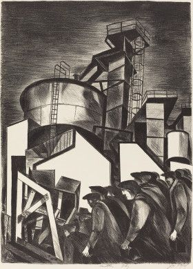 Joseph Vogel (artist)  American, 1911 - 1985  Works Progress Administration/Federal Art Project-New York City (publisher)  Another Day, c. 1937 lithograph in black on wove paper image: 38.1 x 27.9 cm (15 x 11 in.) sheet: 57.2 x 40.6 cm (22 1/2 x 16 in.) Reba and Dave Williams Collection, Gift of Reba and Dave Williams  2008.115.4877