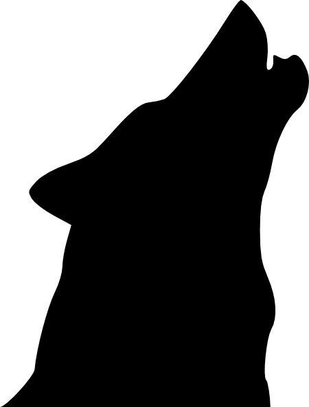 halloween wolves pics | Halloween Howling Wolf Stencil - Free Pumpkin Carving Stencil/Pattern ...