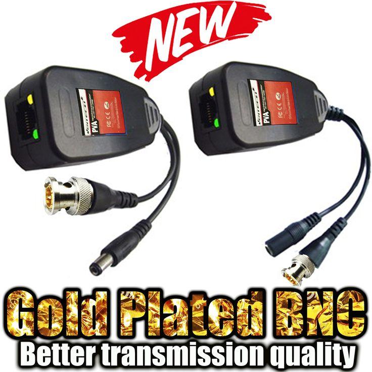 ✶✶✶✶✶ VENTECH NEW CCTV RJ45 CAT5 Cable Video Power Balun Gold Plated BNC HD Pasive video balun Transceiver Pair extra