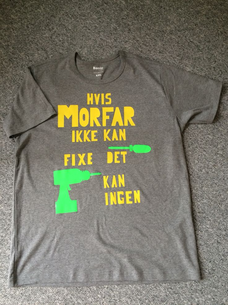 Så fik Morfar en hjemmelavet tshirt:-)