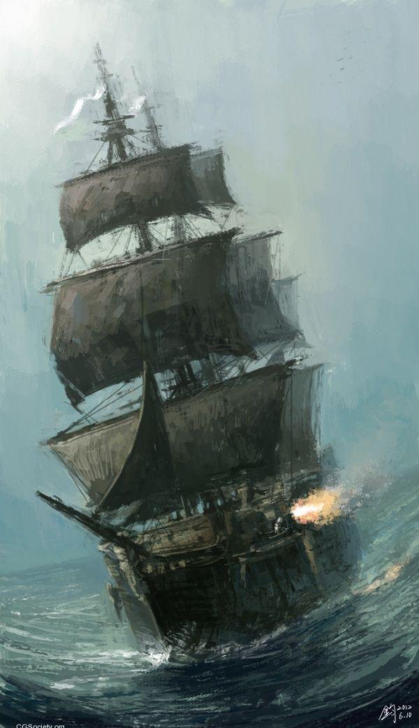 Sea battle in Silver Storm... CG Creations by Gilgamesh Jun Mao
