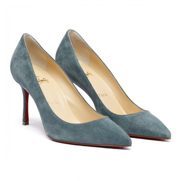 Decoltish 85 dust blue suede pumps ❤ liked on Polyvore featuring shoes, pumps, blue suede shoes, blue shoes, blue pumps, suede pumps and blue suede pumps