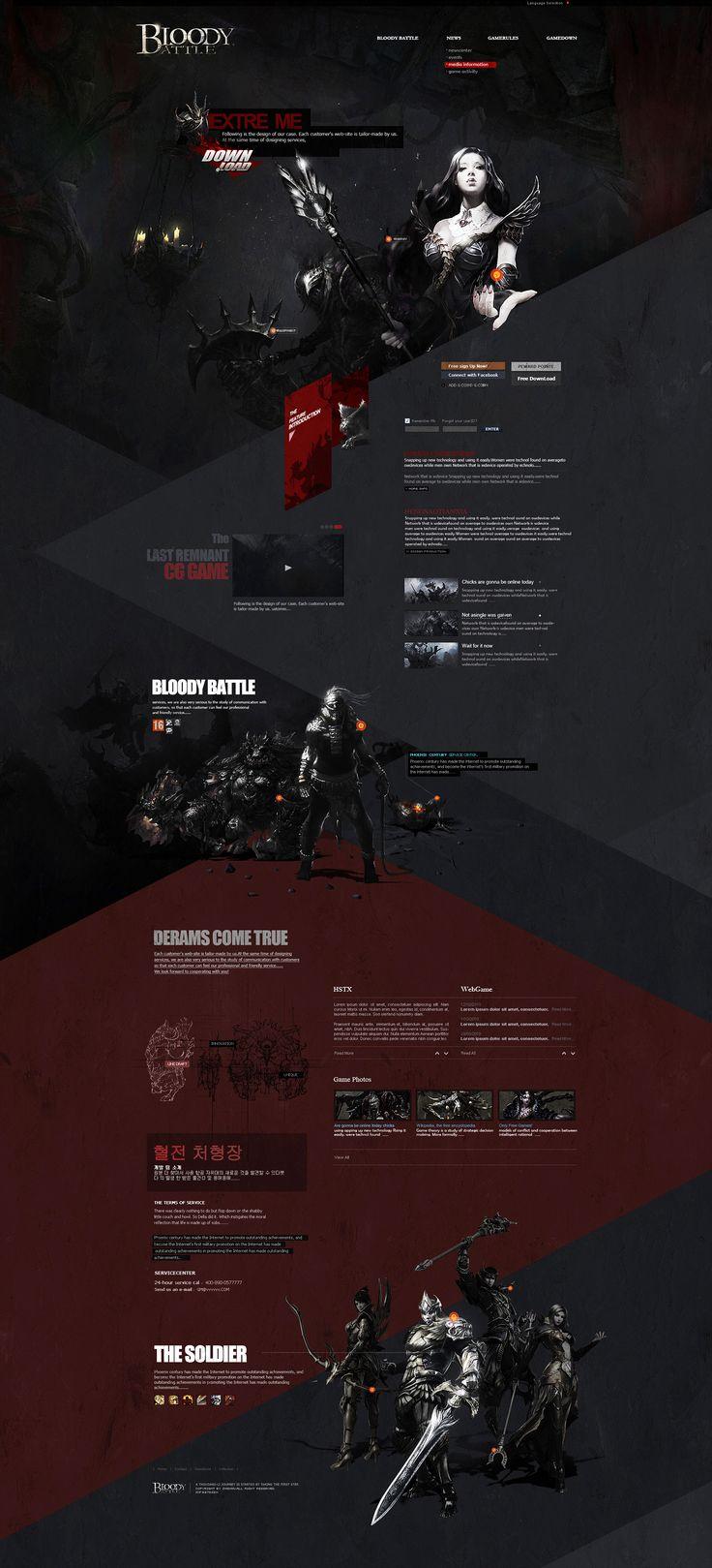 BLOODYBATTLE 设计与分享 网页 游戏/娱乐 igame丶 - 原创作品 - 站酷 (ZCOOL)