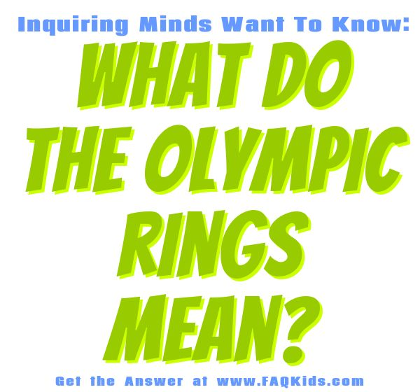 What do the Olympic rings mean? - Questions kids ask about Sports - Learning about Sports