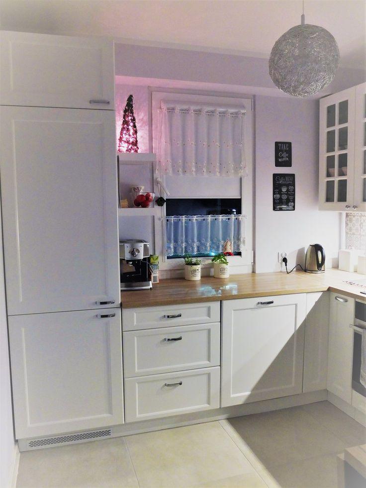 Wnętrza, Moja malutka kuchenka :) - Na dzień dobry przedstawiam Wam moją kuchnię zaprojektowaną przeze mnie, a wykonaną w 100 % przez mojego Męża