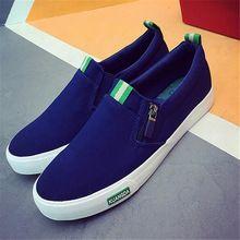 2017 Moda Mens Sapatos Casuais preto plimsolls sapatas de lona homens sapatos casuais sapatos respirável planas Slip-on Calçados X122707(China (Mainland))