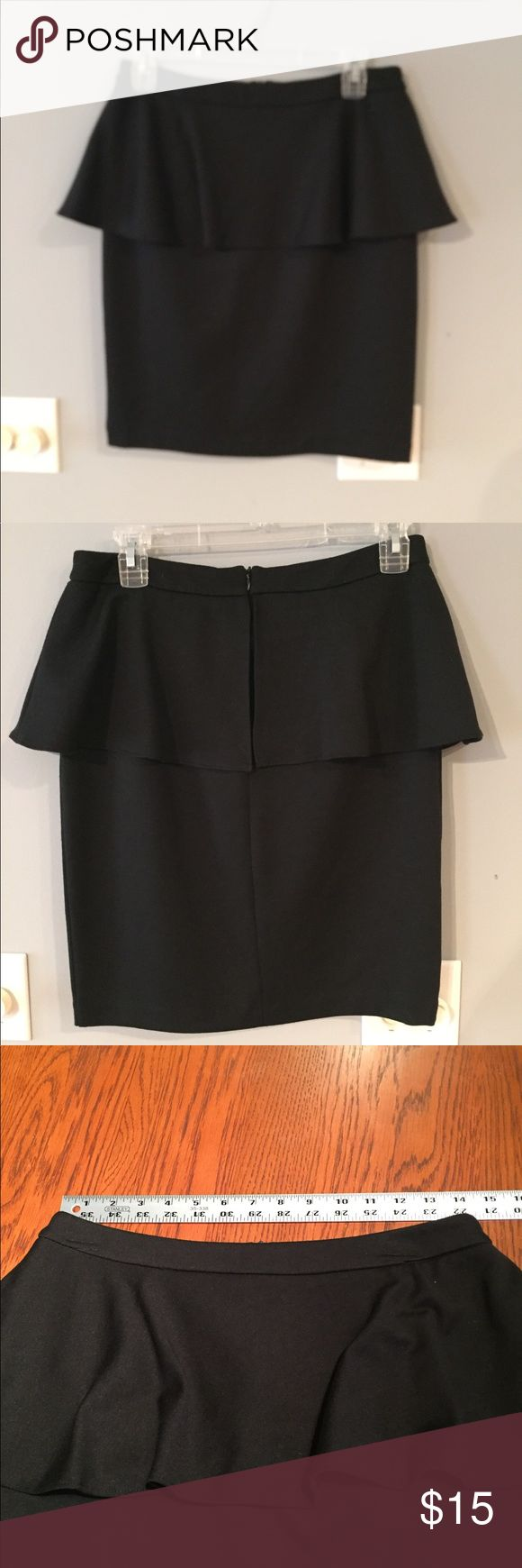 Cynthia Rowley Black Peplum Skirt Gently used, Cynthia Rowley black peplum skirt Cynthia Rowley Skirts