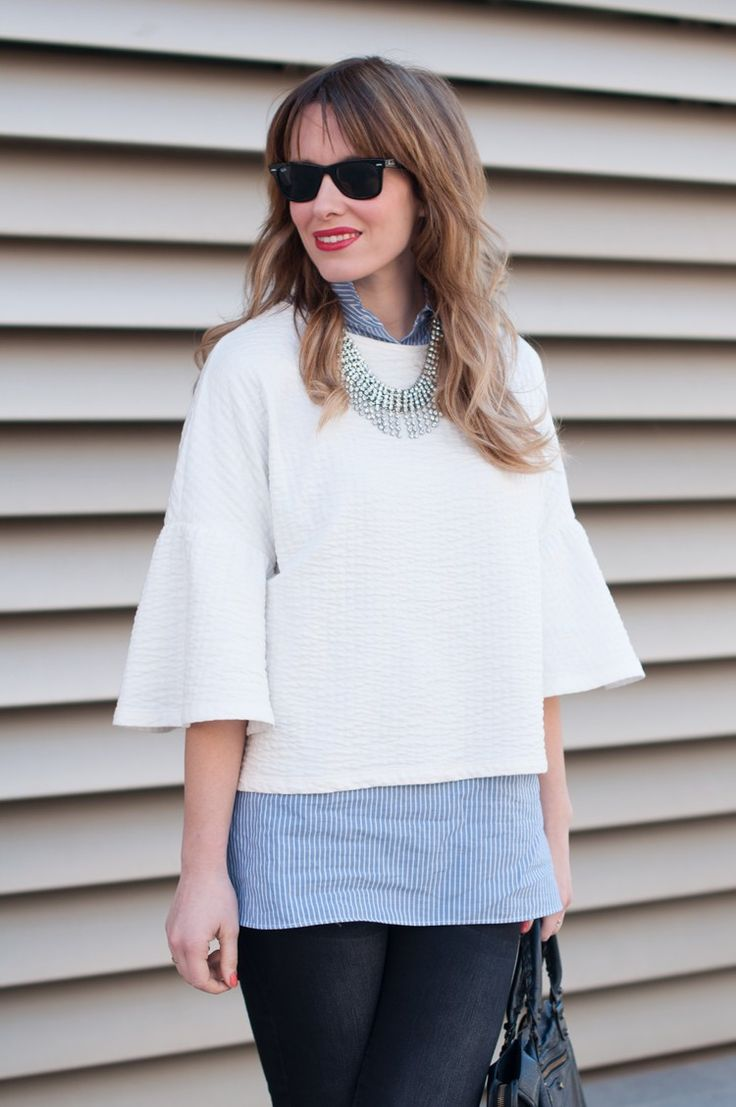 white sweater with blue shirt macarena gea