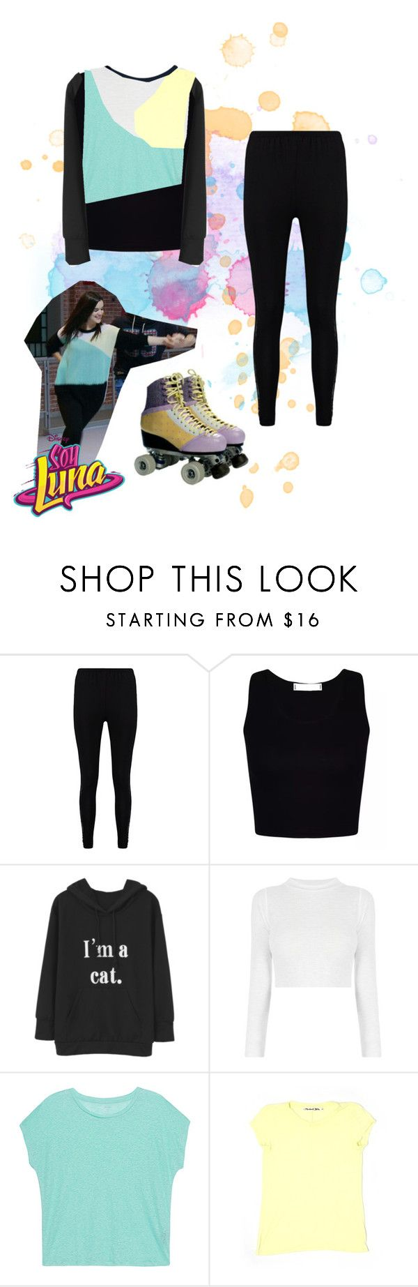 """""""soy luna"""" by maria-cmxiv on Polyvore featuring Boohoo, Majestic Filatures, Michael Stars and Hollister Co."""