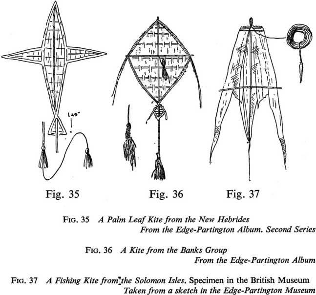 Fig. 35 A Palm Leaf Kite from the New Hebrides From the Edge-Partington Album. Second Series http://nzetc.victoria.ac.nz/