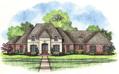 Plan 56300SM: Spacious French Country Home Plan