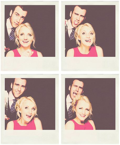 Luna and Neville <3 they are both so beautiful in real life! @Daniel Broderick