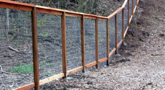 Framed Wire Fence On Slope Yard Pinterest Wire Fence
