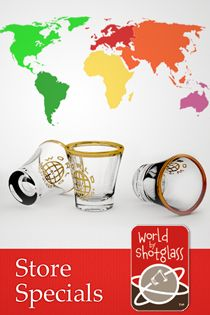 http://www.worldbyshotglass.com @ customized shot glasses