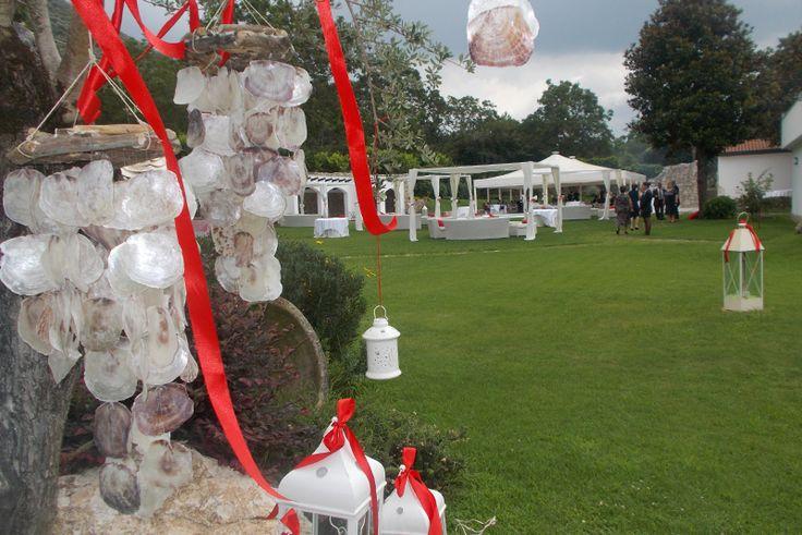 Matrimonio in stile marino rosso - Santa Lucia Meeting's Club