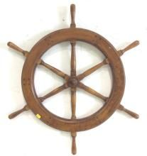 Hand Crafted Wood Captains Wheel