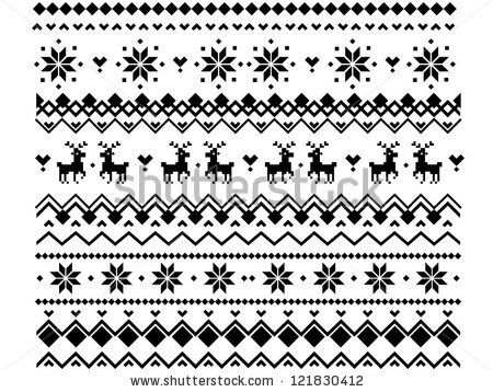 Nordic Pattern-Free | ... Geometric scheme for knitted ornament in nordic or scandinavian style