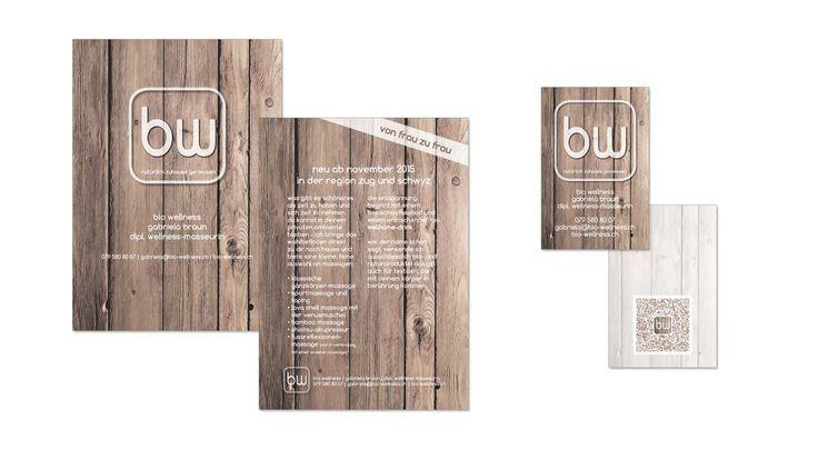 Flyer und Visitenkarten für bio wellness