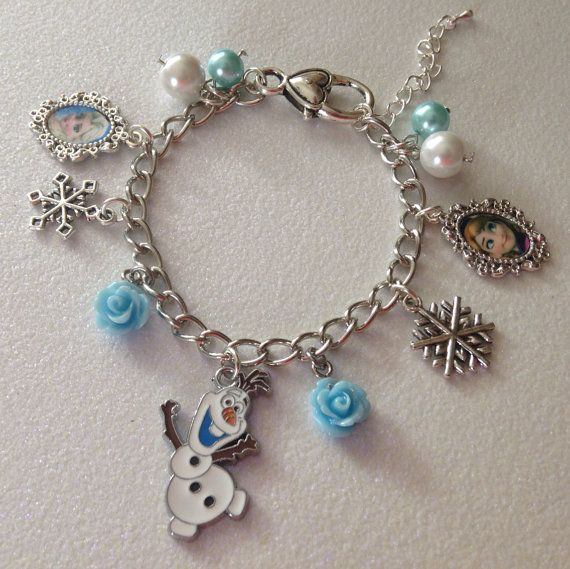 Frozen Elsa And Anna Charm Bracelet Adjustable 2 To 4 Year Gift Box Birthday Kids' Clothing, Shoes & Accs