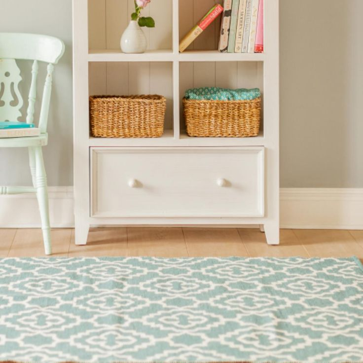 Versatile and reversible this wool rug is available in three colours.