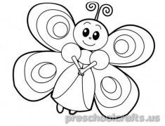 freeprintable animals butterfly coloring pages for kids - Butterfly Coloring Pages Kids