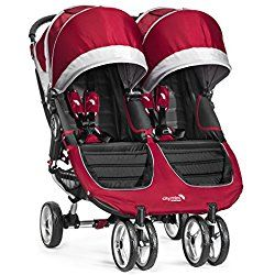 Baby Jogger City Mini Double Jogging Stroller, Crimson Red/Gray