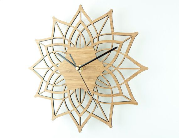 Modern Wall Clock Contemporary Clock Wooden Wall by BeamDesigns