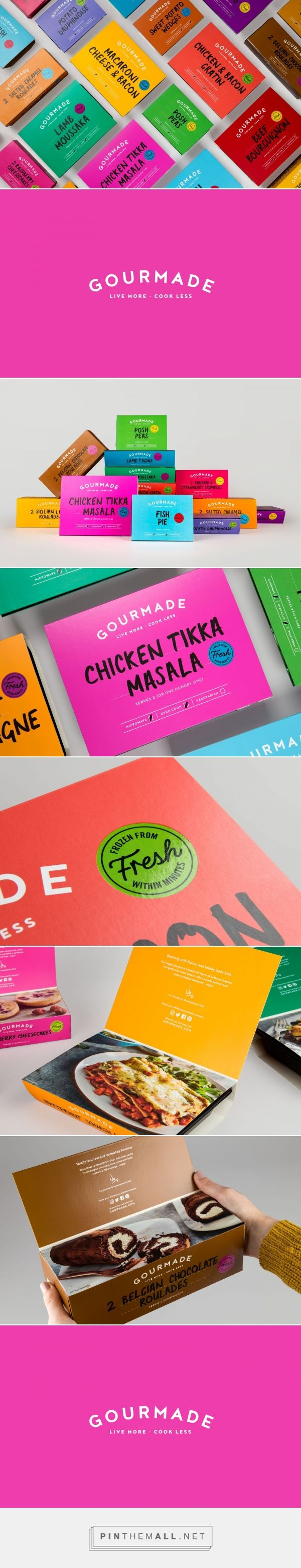 Gourmade frozen food packaging design by Robot Food - http://www.packagingoftheworld.com/2018/02/gourmade.html