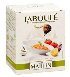 Tabouleh abouleh is een recept uit het Midden-Oosten, maar Jean Martin had 40 jaar geleden om de saus als eerste in een glazen pot te verkopen. Met een 40 jaar lange expertise is het product steeds verder ontwikkeld en verfijnd. Dit premium product kan daardoor verkregen worden tegen een betaalbare prijs en is niet langer meer een gerecht van alleen mensen uit het Midden-Oosten