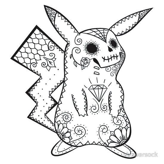 Pikachu De Los Muertos Pokemon Amp Day Of The Dead Mashup