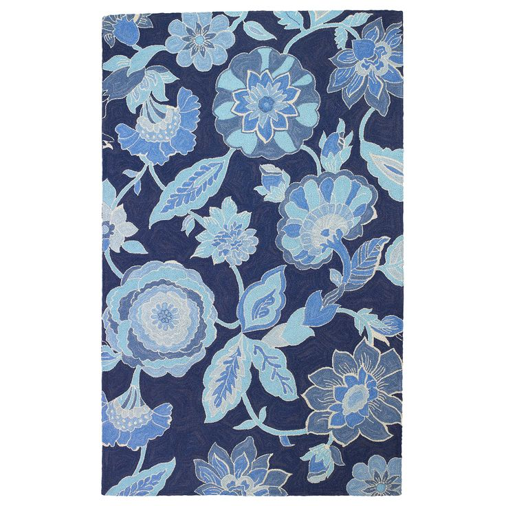 Company C Blue By You Hand Hooked Wool Rug @LaylaGrayce