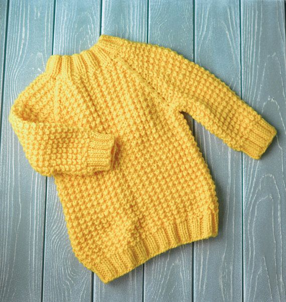 Children's tiny yellow sweater handmade made of soft and