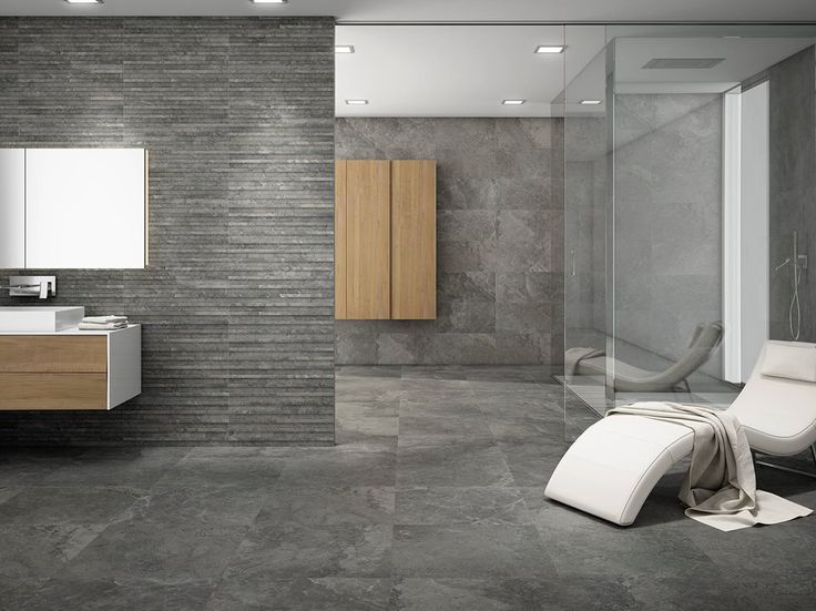 Stone Box is a modern and timeless #stone available in multiple formats with three gray proposals and a warmer style in cream.   #tiles #ceramics #bathroom