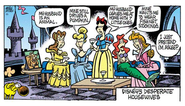 Wayfaring Mouse | The World of Disney for the Young at Heart: Mother Goose and Grimm - Disney's Desperate Housewives { | Disney Humor | Disney Funny |