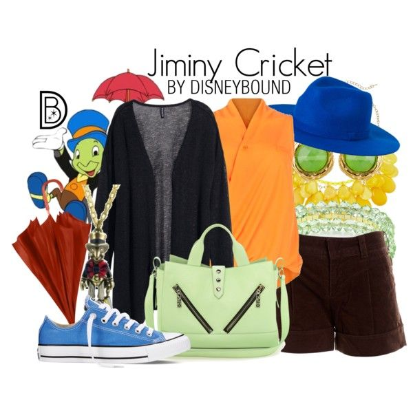 Jiminy Cricket by leslieakay on Polyvore featuring Samya, H&M, Vince, Converse, Kenzo, Disney Couture, Susan Shaw, 1928, Monki and disney